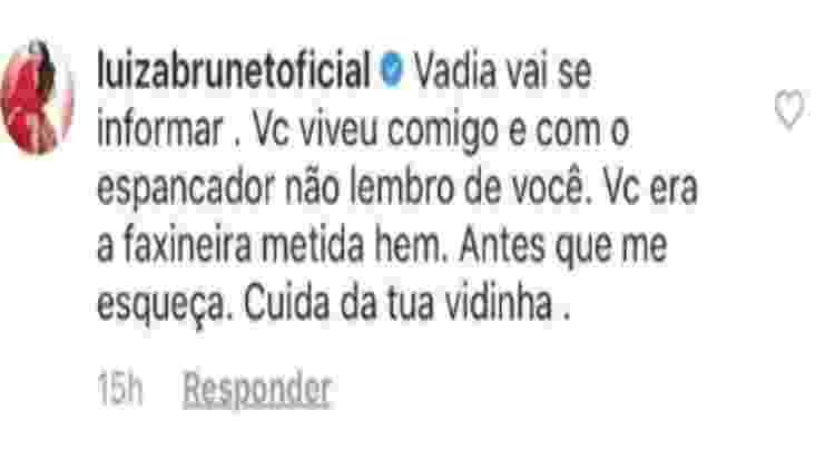 """Luiza Brunet xinga funcionária pública de """"vadia"""" - Reprodução/Instagram - Reprodução/Instagram"""
