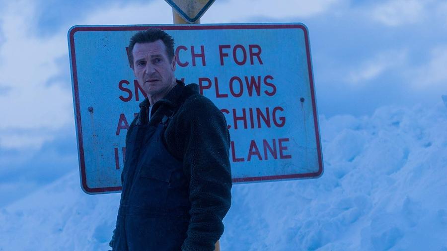 """Liam Neeson em cena de """"Vingança a Sangue Frio"""" - Divulgação"""