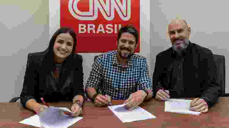 Mari Palma, Phelipe Siani e Douglas Tavolaro - Divulgação/CNN Brasil - Divulgação/CNN Brasil