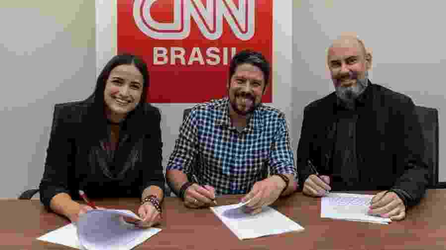 Mari Palma, Phelipe Siani e Douglas Tavolaro - Divulgação/CNN Brasil