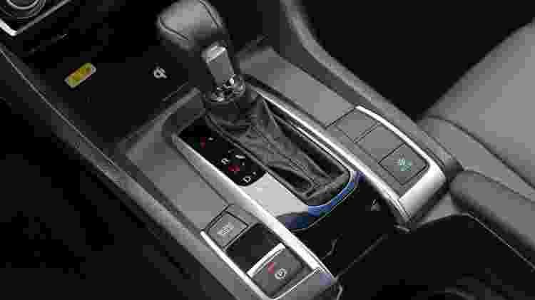 Câmbio CVT do Honda Civic; tecnologia evoluiu muito ao longo dos últimos anos - Murilo Góes/UOL - Murilo Góes/UOL