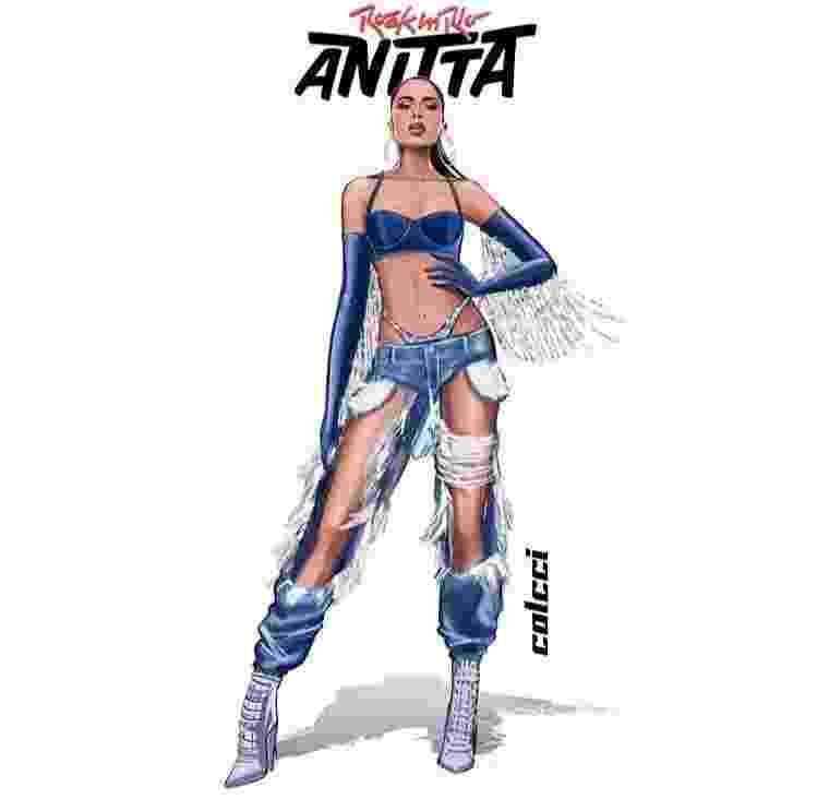 Anitta tem quatro looks à disposição para show que fará no RiR. Veja quais. - Reprodução/Instagram @_claralima