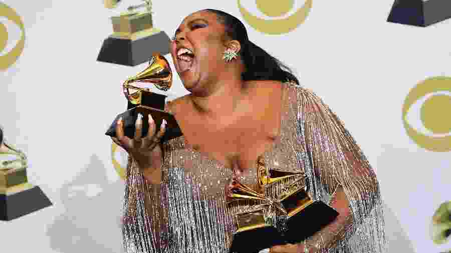 Lizzo conquistou três Grammys em 2020 - FREDERIC J. BROWN/AFP