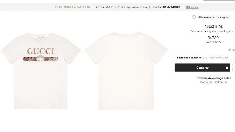 Camiseta Gucci usada por Zoe - Reprodução