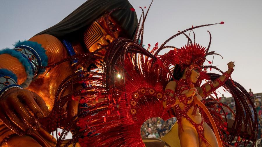 Desfile da Portela na Marquês de Sapucaí em 2020 - Luciola Vilella/UOL