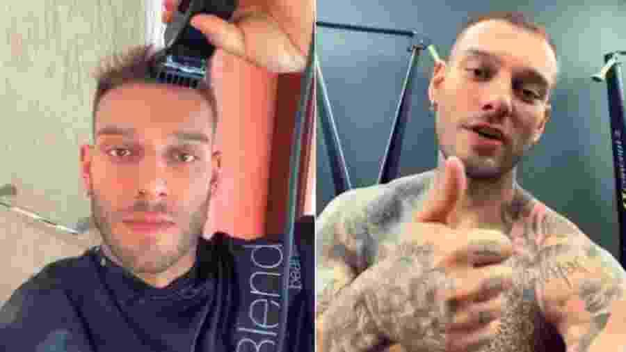 Lucas Lucco raspa a cabeça em casa - Reprodução/Instagram