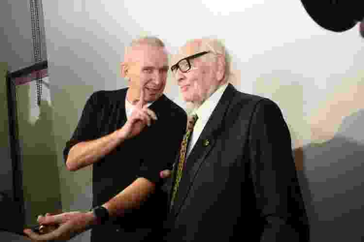 24.01.2018 - Jean-Paul Gaultier e Pierre Cardin se reencontram em Paris - Foc Kan/WireImage - Foc Kan/WireImage