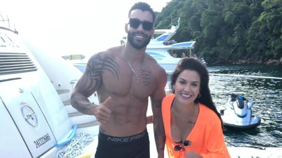 Gusttavo Lima e Andressa Suita foram vistos juntos no Rio - Instagram
