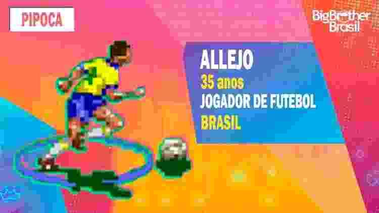 Allejo no BBB - Montagem: Allan Francisco / Divulgação (Konami) - Montagem: Allan Francisco / Divulgação (Konami)