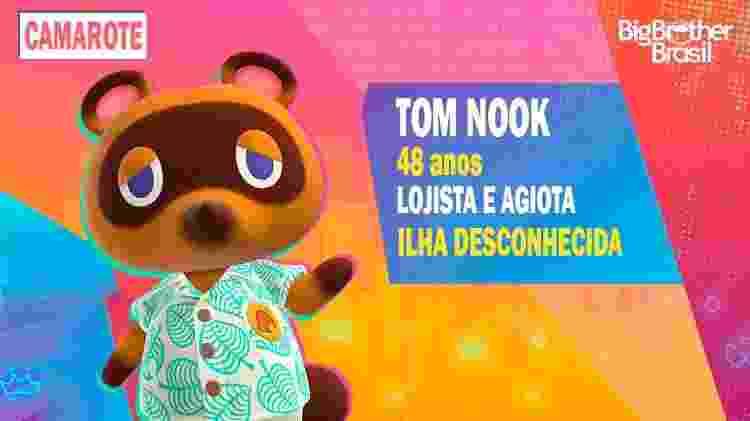 Tom Nook no BBB - Montagem: Allan Francisco / Divulgação (Nintendo) - Montagem: Allan Francisco / Divulgação (Nintendo)