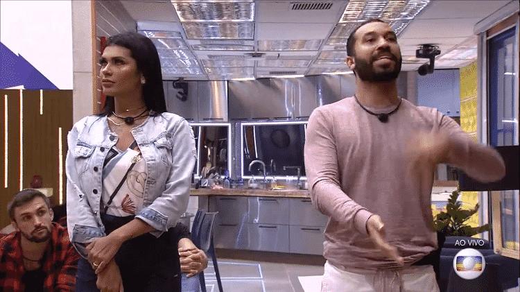 BBB 21: Pocah e Gil no jogo da discórdia - Reprodução/TV Globo - Reprodução/TV Globo