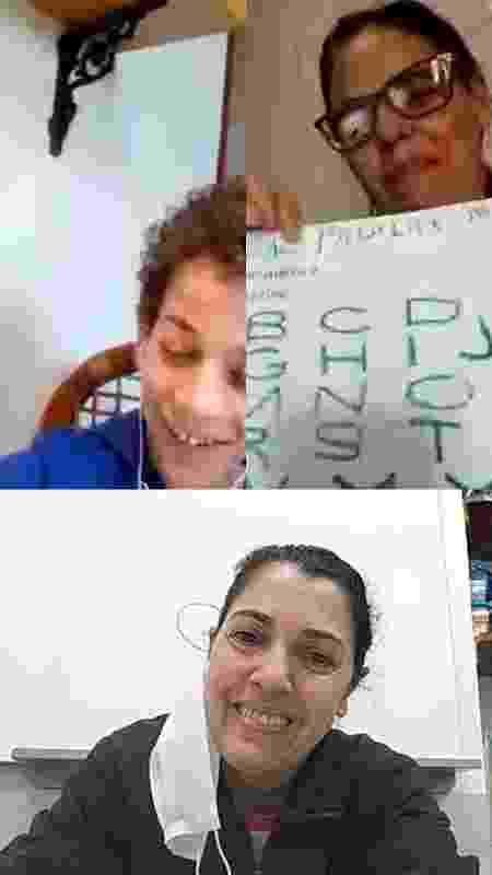 João em aula por vídeo chamada - Arquivo pessoal - Arquivo pessoal
