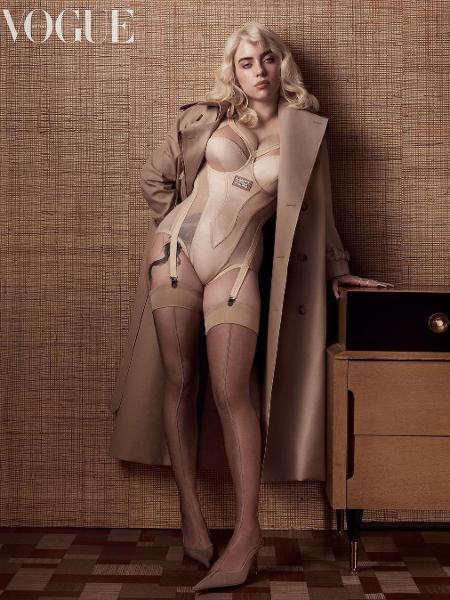 Billie Eilish em ensaio para a Vogue britânica - Reprodução/Instagram