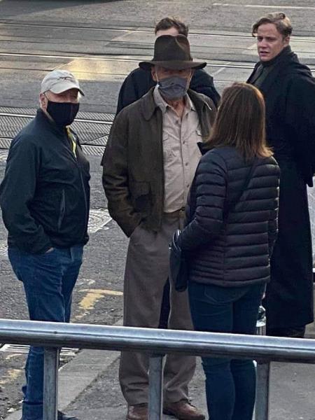 """Harrison Ford no set de """"Indiana Jones 5"""" - Reprodução/Instagram"""