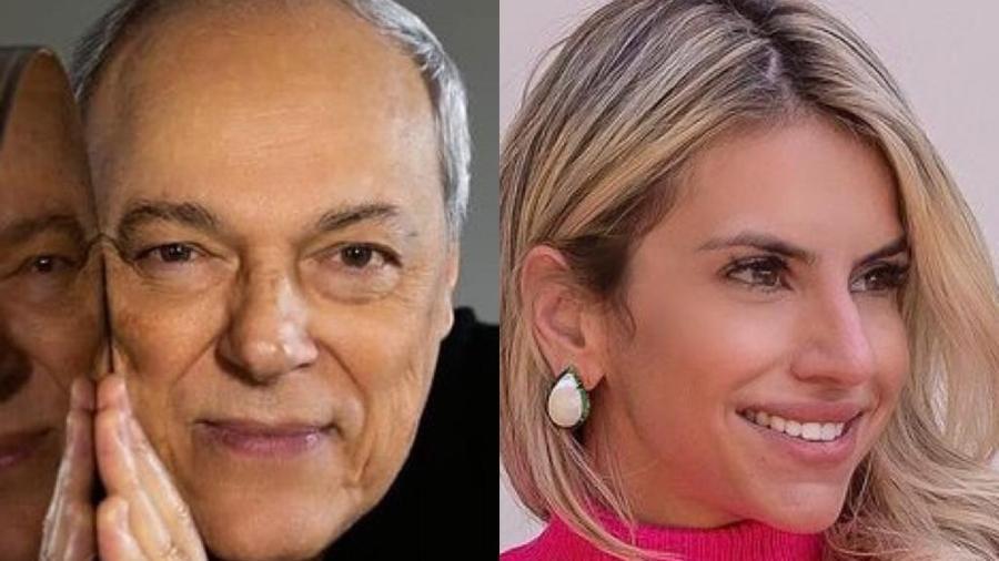 Toquinho publicou uma foto do filho com o neto e Marcela Guzzo, madrinha da criança, rebateu - Reprodução / Instagram / Marcos Hermes