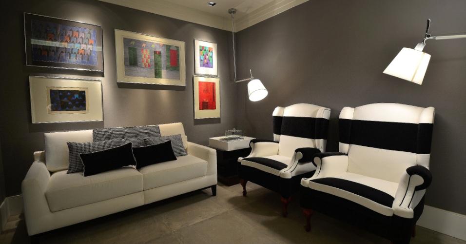 Sala De Tv Cinza E Branco ~ tons de cinza, preto e branco para compor a sala de estar Listras e