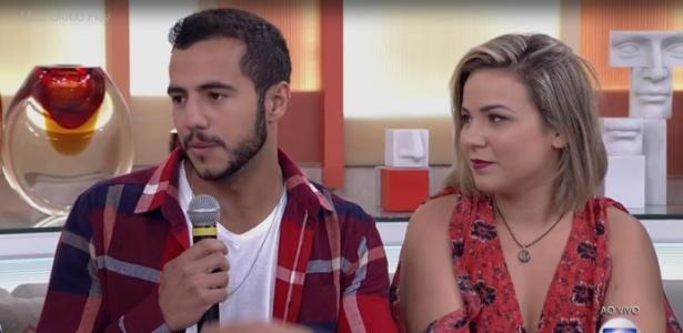"""No """"Encontro"""", Matheus e Cacau dizem acreditar no destino ao falarem sobre romance que começou no """"BBB16"""" - Reprodução/TV Globo"""