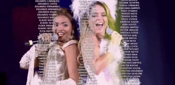 Créditos do especial de 50 anos levaram Globo ao Guinness Book - Reprodução/TV Globo