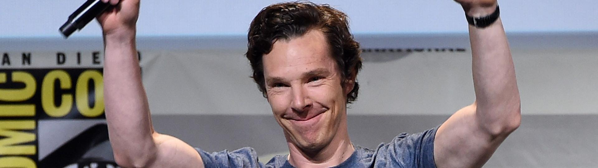 23.jul.2016 - Benedict Cumberbatch no painel de