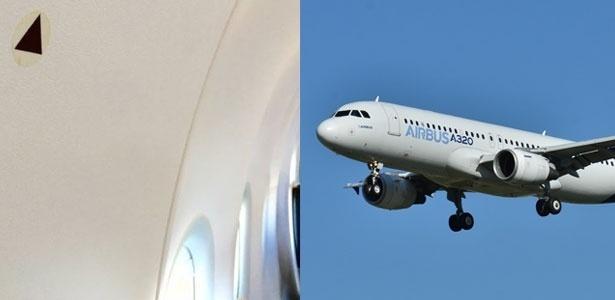 O símbolo marca as melhores janelas de onde observar o exterior do avião - Creative Commons/L. Ballentine - Laurent ERRERA