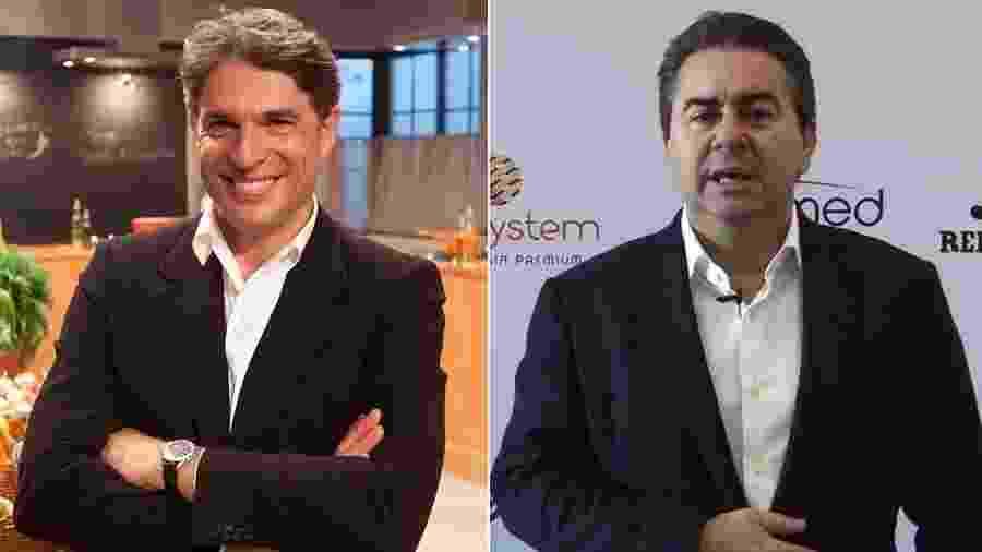 Chef e apresentador Olivier Anquier e seu rival jurídico, o empresário José Carlos Semenzato - Montagem/UOL
