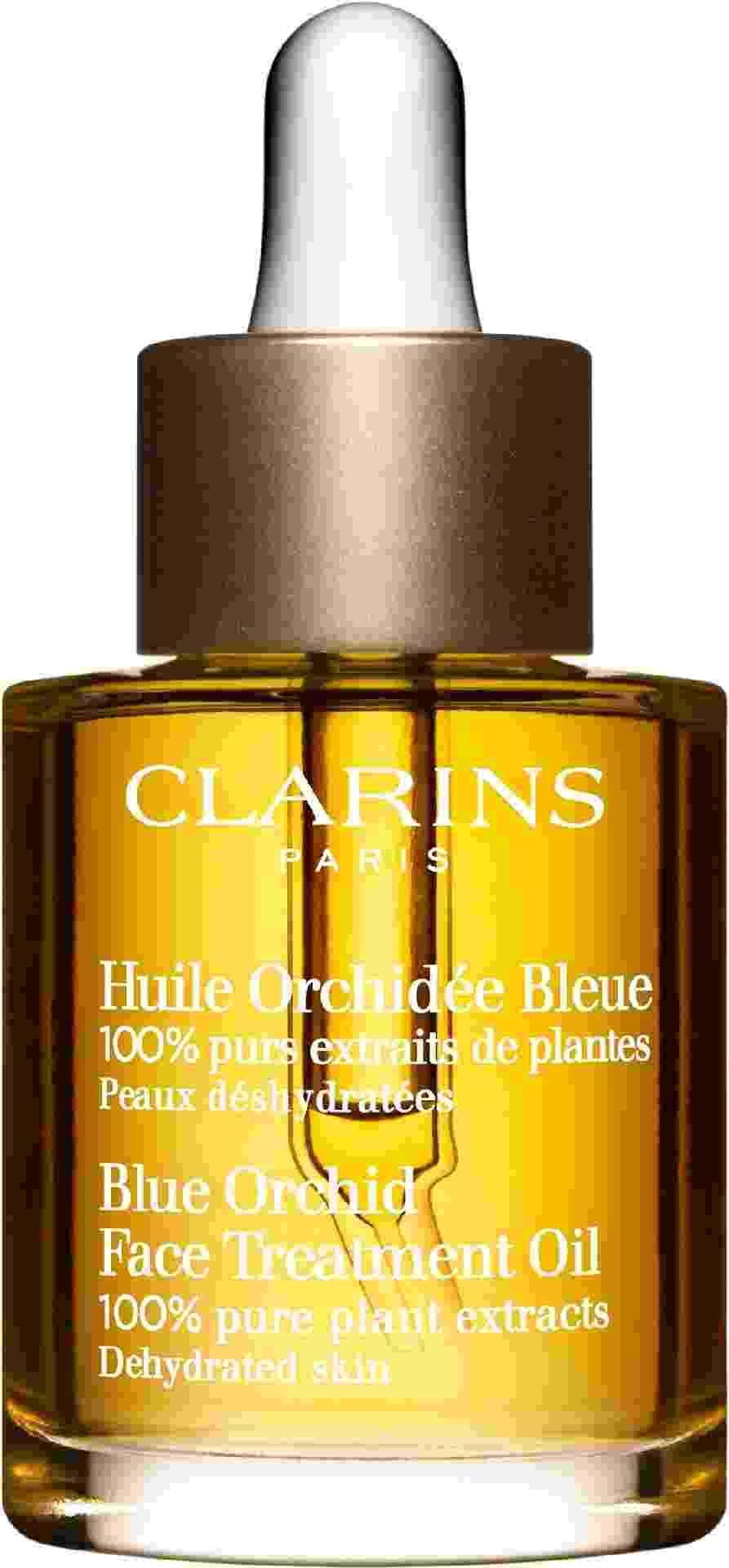 Óleo para todos os tipos de pele Blue Orchid, R$ 259, Clarins, clarins.com - Divulgação