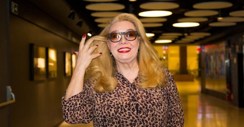 """Rogéria na pré-estreia do filme """"Divinas Divas"""", em São Paulo, em julho deste ano"""