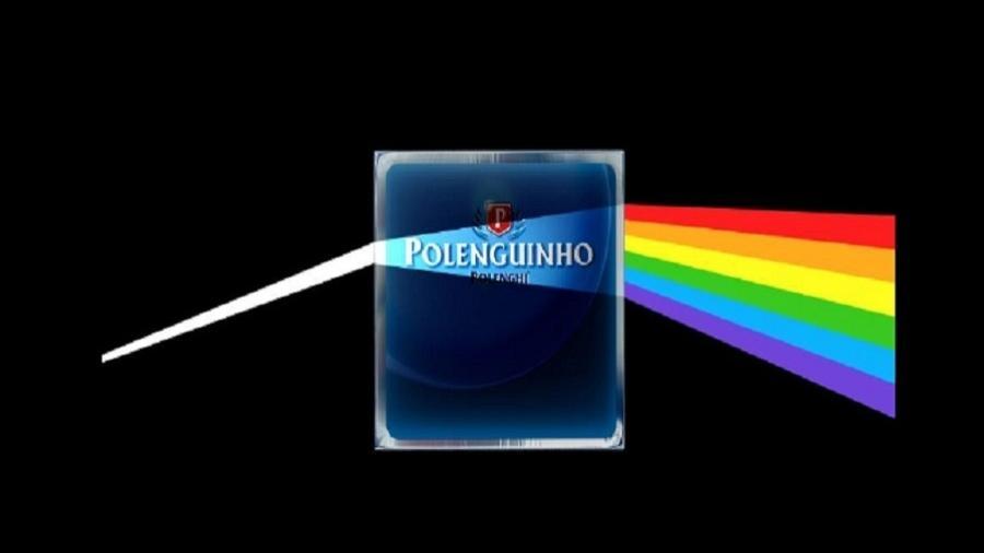 """Polenguinho faz brincadeira com álbum clássico """"The Dark Side of The Moon"""" (1973), do Pink Floyd - Reprodução/Facebook"""