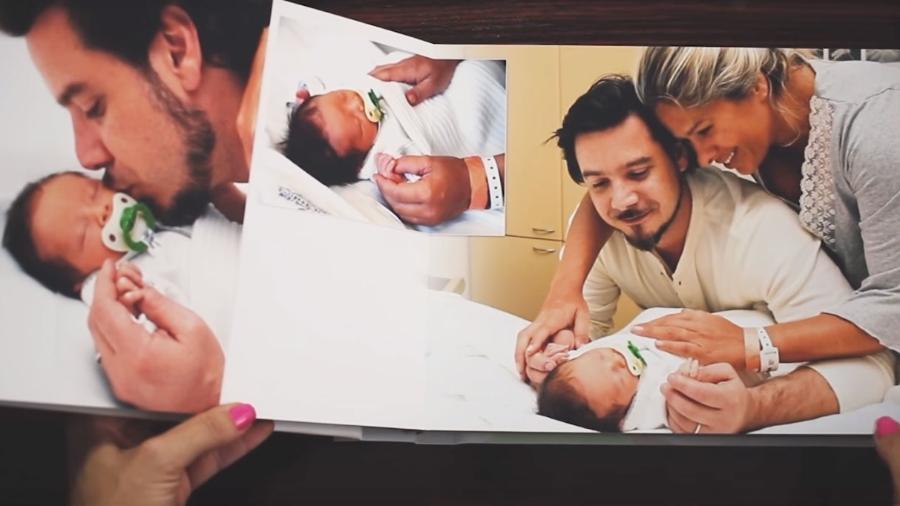 Adriane Galisteu, com o marido, Alexandre Iodice, e o filho, Vittorio  - Reprodução/Youtube