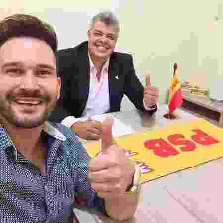 Marco Ruggiero em reunião do PSB - Reprodução/Instagram - Reprodução/Instagram
