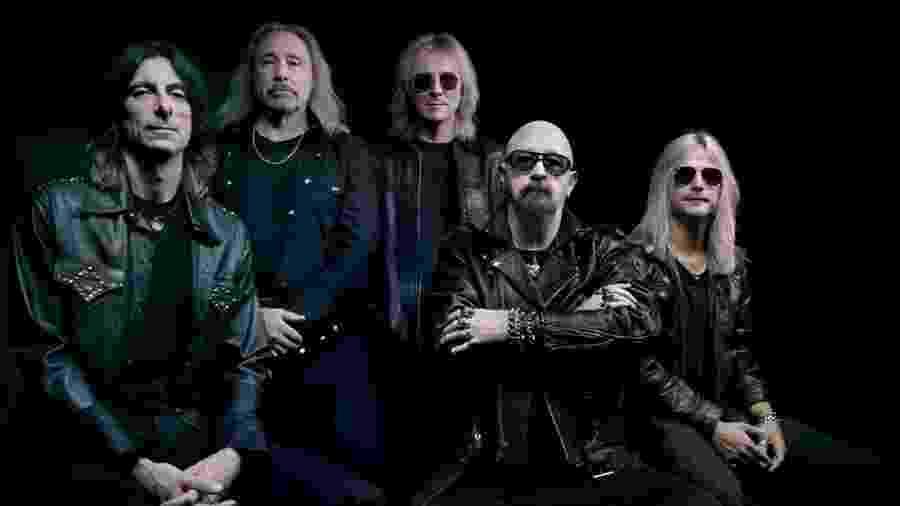 """Judas Priest em foto promocional de """"Firepower"""" - Divulgação"""