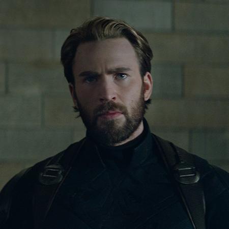 """Chris Evans como o Capitão América em """"Vingadores: Guerra Infinita"""" - Reprodução"""