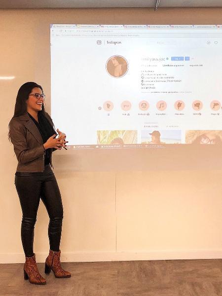 """Campeã do """"BBB17"""", Emilly Araújo faz palestra em universidade - Reprodução/Instagram"""