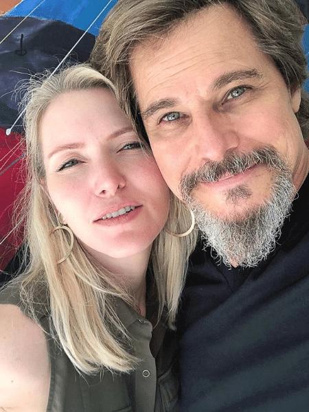 Karin Roepke e Edson Celulari  - Reprodução/Instagram