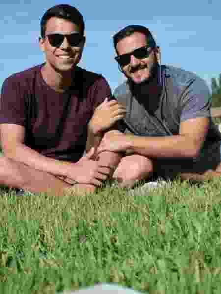 Amores e rivais: Bruno Grubertt (à esquerda) e Leandro Oliveira minimizam concorrência na TV - Reprodução/Instagram/leandrosioli