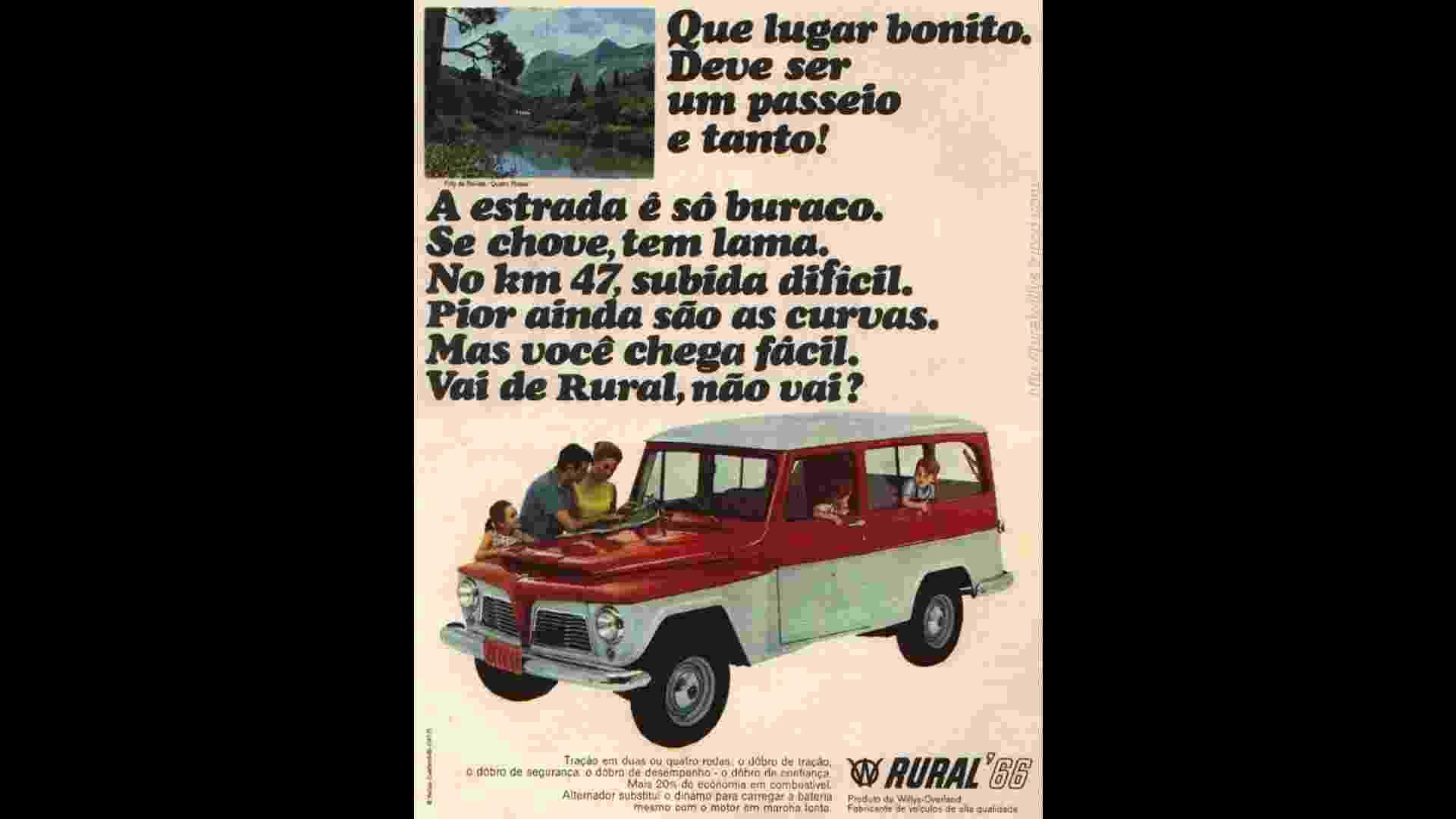 Willys-Overland Rural 1966 propaganda - Reprodução