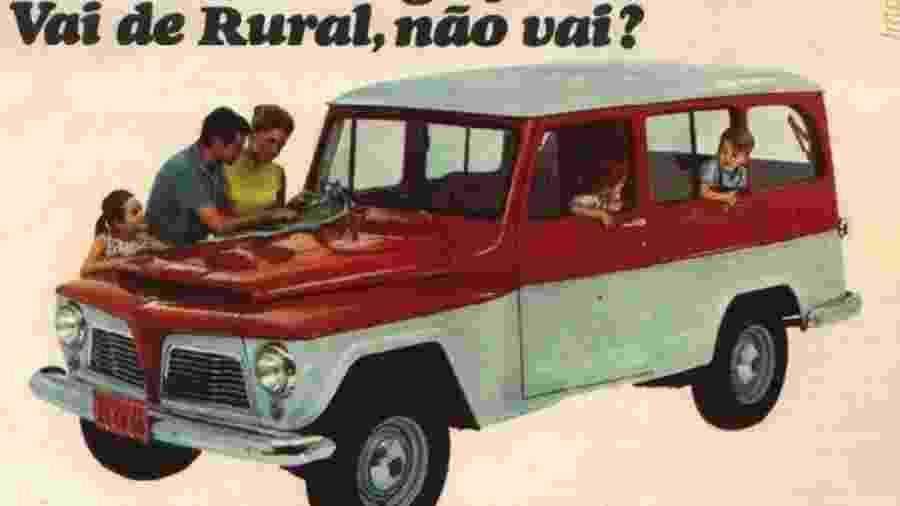 Anúncio da Rural 1966: precursora do que se espera atualmente de um SUV - Reprodução
