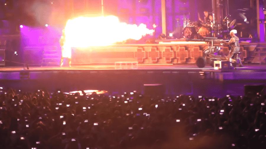 Detalhe do show da nova turnê do Rammstein - Reprodução/Youtube