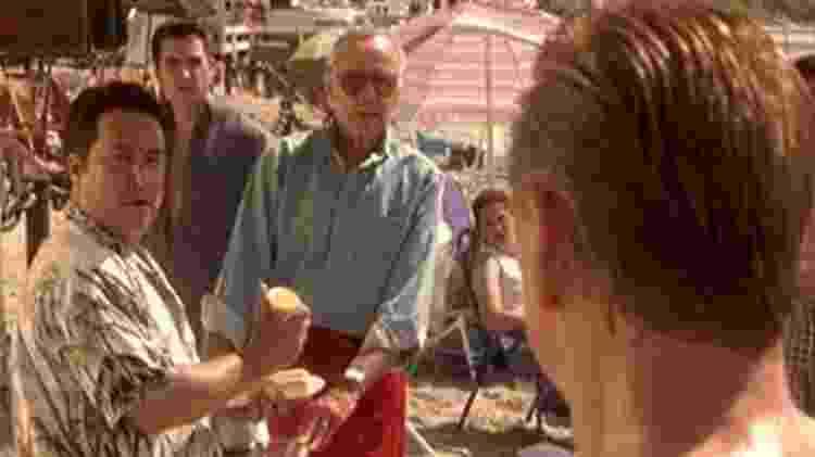 Stan Lee em cena de X-Men, primeira ponta dele em filme - Reprodução