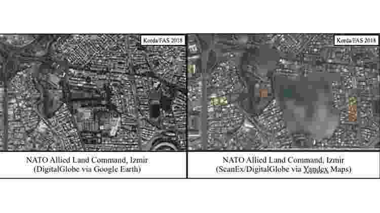 Uma comparação de imagens da base da Otan na Turquia no Google e no Yandex - FAS - FAS