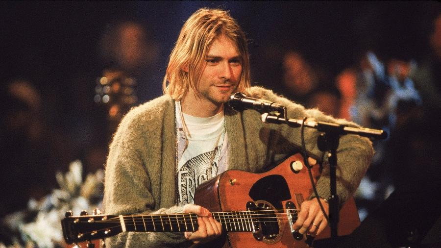 Kurt Cobain no MTV Unplugged; morte do cantor completa 27 anos hoje - Frank Micelotta/Getty Images