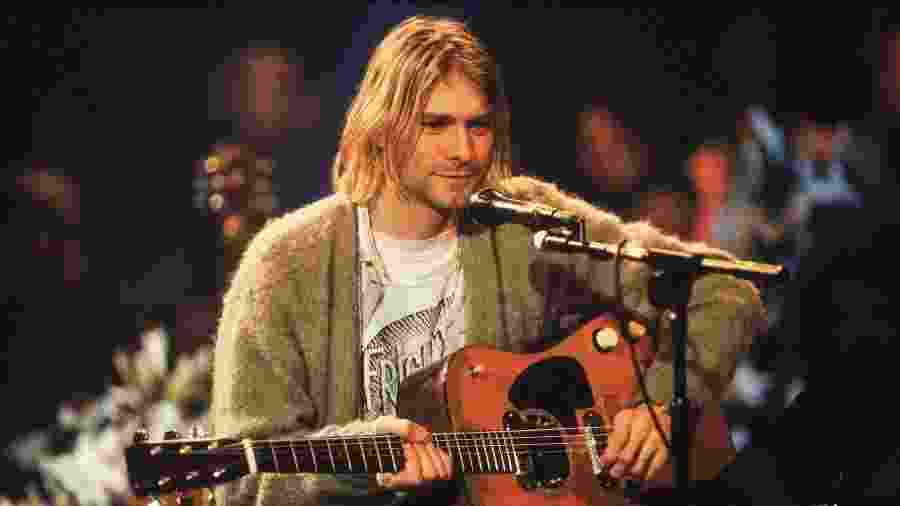 Vocalista do Nirvana Kurt Cobain no MTV Unplugged - Frank Micelotta/Getty Images