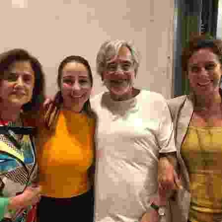Marieta Severo, Jéssika Menkel,  Aderbal Freire Filho e Andréa Beltrão no Teatro Poeira - Instagram