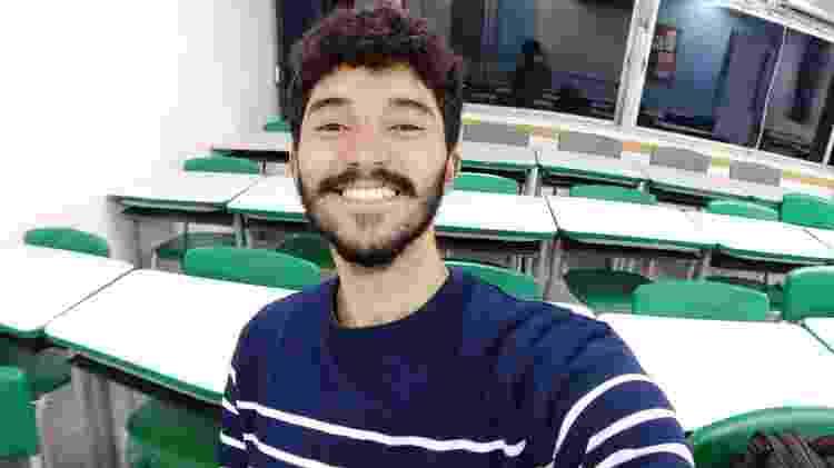 Mateus Lima Oliveira,  aluno do curso de francês ministrados por Tafa - Arquivo Pessoal