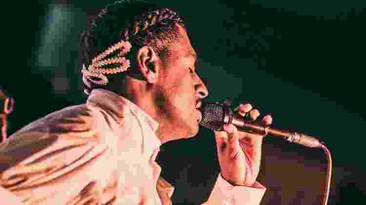 Rico Dalasam durante show em Belo Horizonte em março - Divulgação - Divulgação