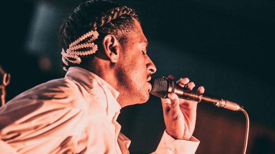 Rico Dalasam canta no lançamento do Sympla Originals, em Belo Horizonte - Divulgação