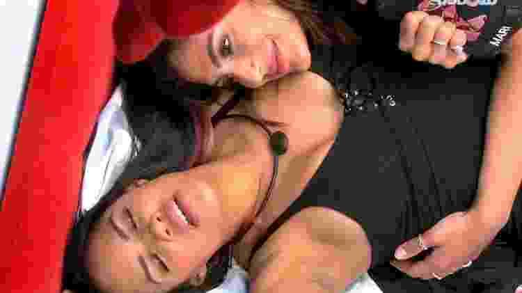 Flayslane comemora com Mari sua permanência no BBB 20 - Reprodução/Globoplay
