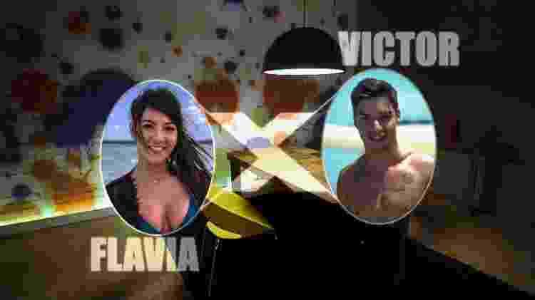 A estreia da Sala da Verdade, no 'De Férias com o Ex', entre Flavia e Victor - Divulgação/MTV - Divulgação/MTV