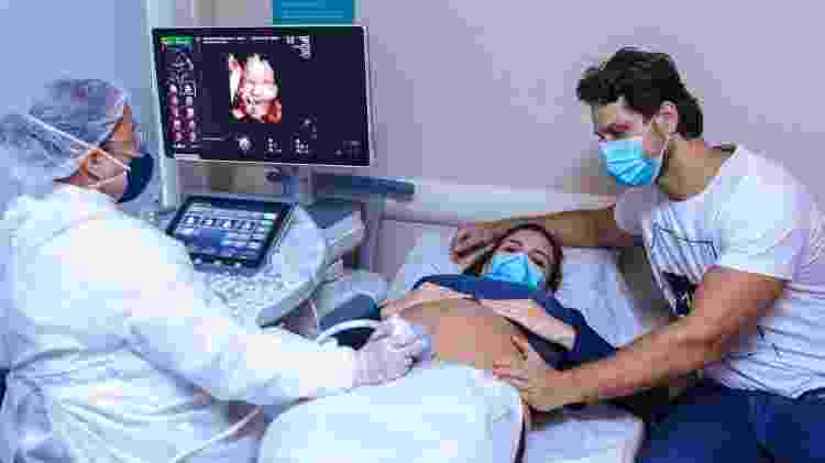 Kamilla Salgado e Eliéser no ultrassom - Thiago Duran/AgNews - Thiago Duran/AgNews