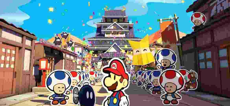 Origami King enfatiza a aventura, puzzles e história (trivia: Paper Mario é Mario Story no Japão) - Divulgação